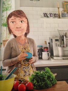 I am very creative in the kitchen, like Nigella.