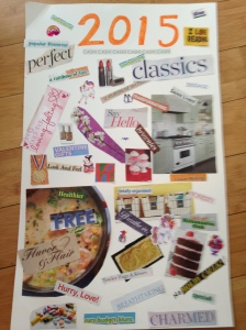 Make your own vision board!  It is a great centering exercise.  i wish I'd had room for some pictures of meeeee!