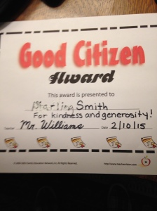 I'll bet those horrible Wozinski girls and fat Alice have never received one of these!