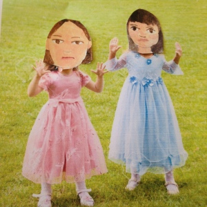 They are imitating Fat Alice and her friend Julia here.  They are a stitch when they get going.