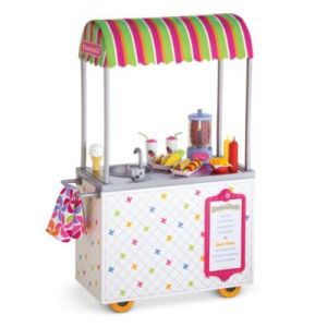 "We have almost every accessory, but the snack cart is cute and she can have some of the old Samantha dolls who hair isn't as pretty ""work"" there."
