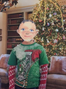 The good news is that suddenly the cute Polar Express shirt doesn't seem so babyish to him.